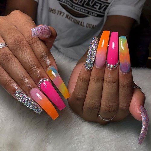 Cute Acrylic Nails Coffin