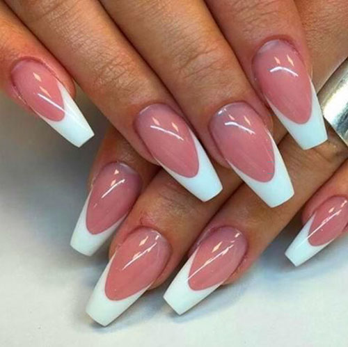 French Nails Coffin