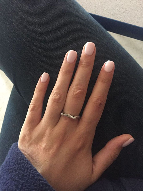 Short Natural Acrylic Nails
