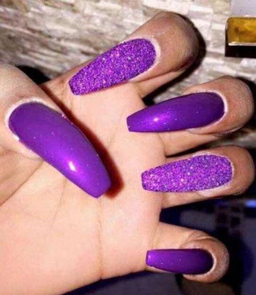 Acrylic Purple Nails