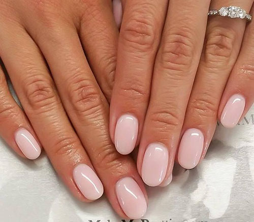 Short Acrylic Nails Natural