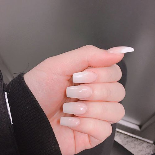 Short Acrylic Natural Nails