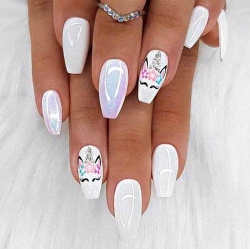 Unicorn Kid Nails