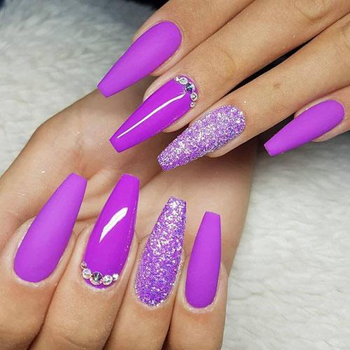Plum Purple Nails