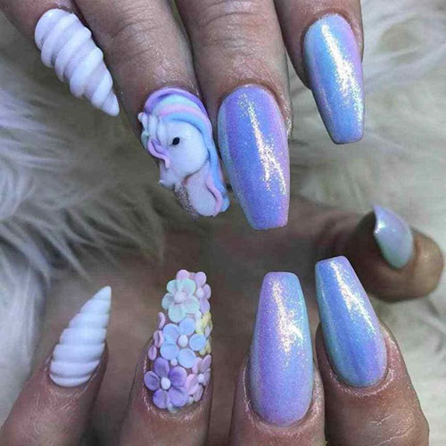 Unicorn Pigment Nails
