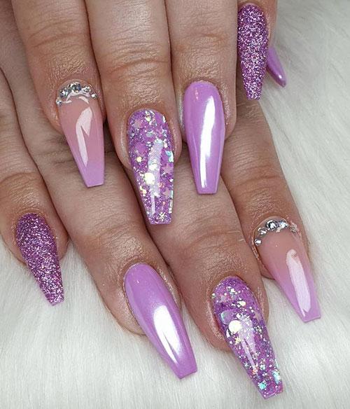 Purple Nails Acrylic