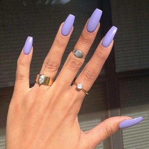 Purple Acrylic Nail Ideas