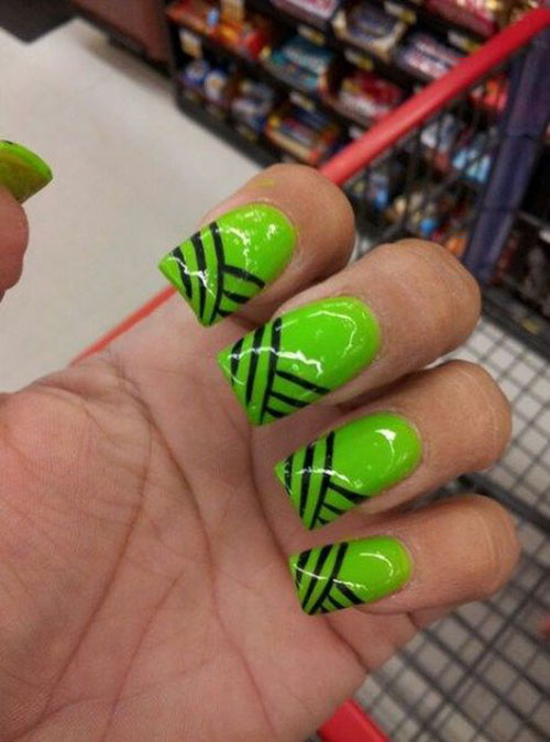 Acrylic Nails Green