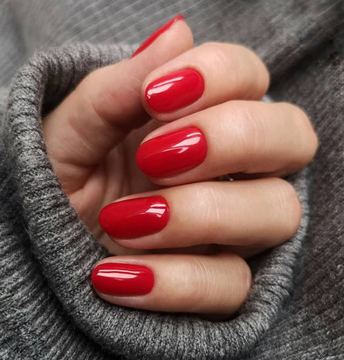 Short Natural Look Acrylic Nails