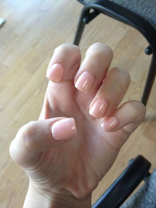 Acrylic Nails Short Natural