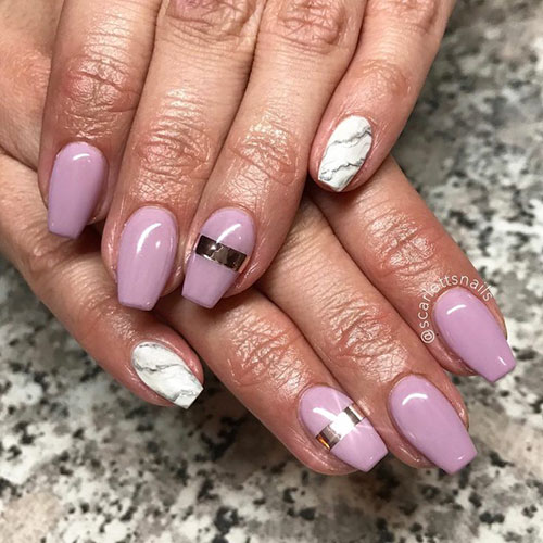 Short And Square Nails