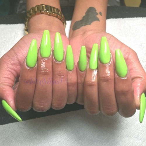 Lime Green Acrylic Nails