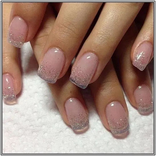Natural Looking Acrylic Nails Short