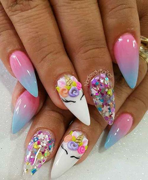 Unicorn Nails For Girls