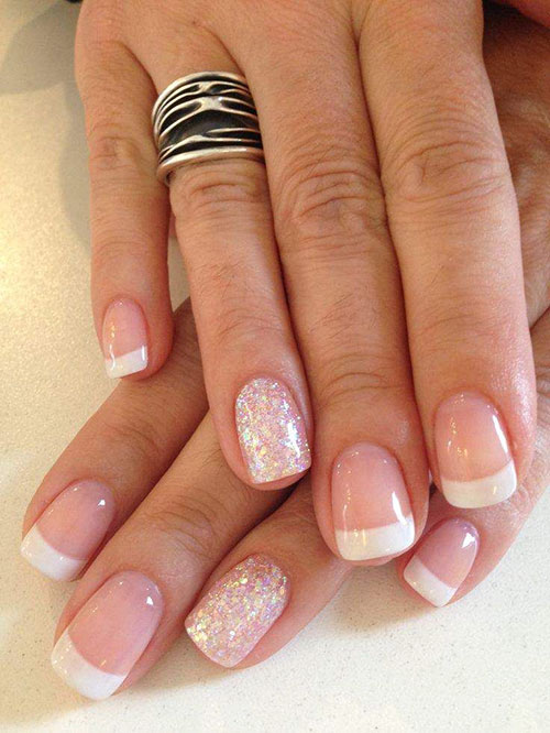 Triangle French Tip Nails