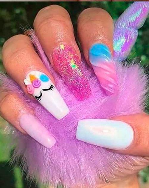 Claire'S Unicorn Nails