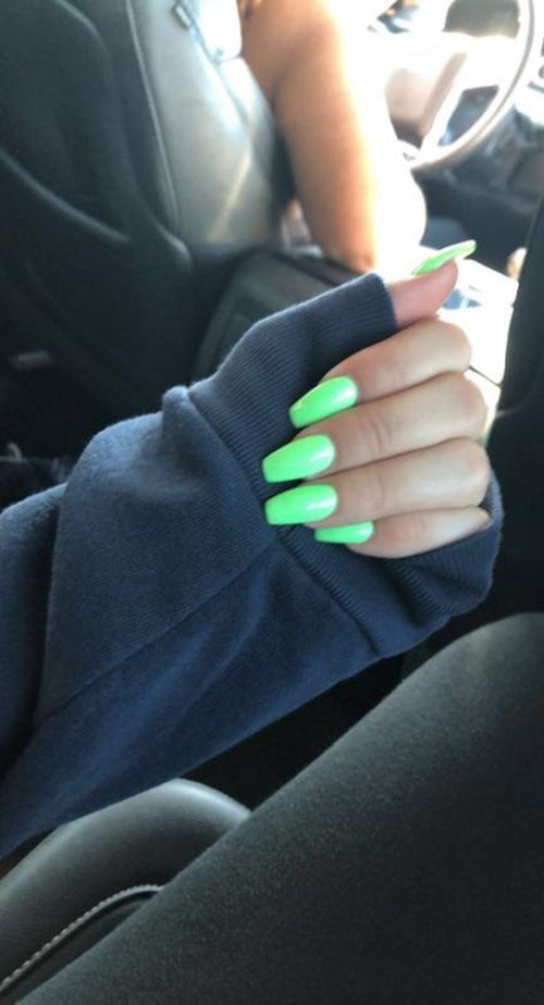 Seafoam Green Acrylic Nails