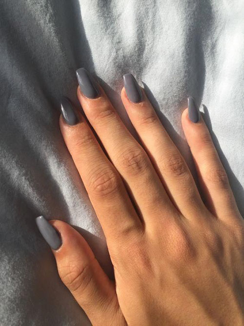 Natural Acrylic Nails Short