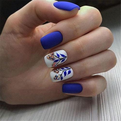 Dark Blue Nails