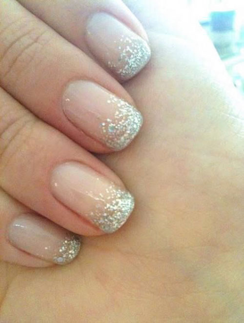 Champagne Wedding Nails