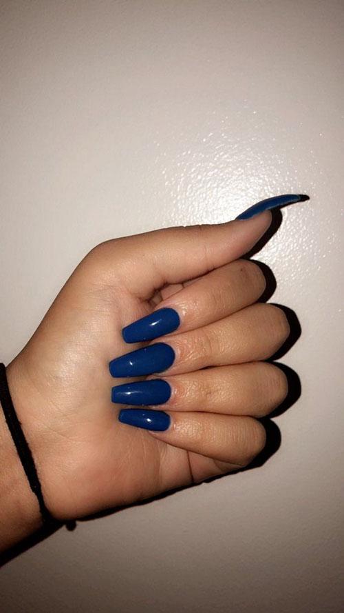 Midnight Blue Acrylic Nails