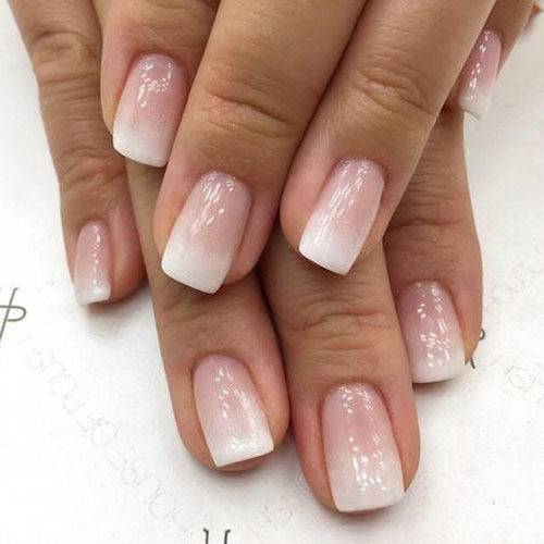 French Acrylic Nails Rounded