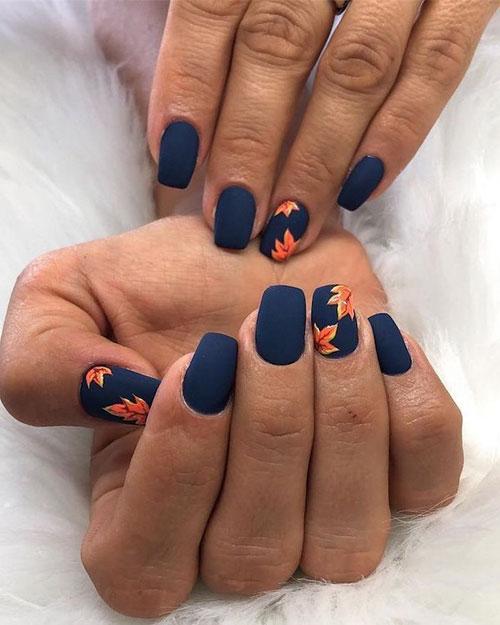 Dark Blue Nail Ideas