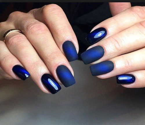 Glow In The Dark Blue Nails