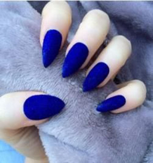 Blue Glow In The Dark Nails