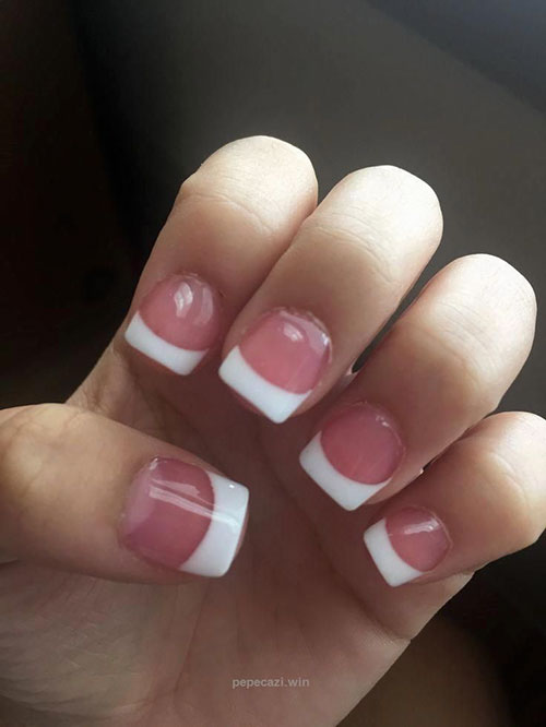 Reverse French Acrylic Nails