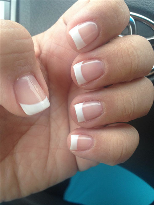 Permanent French Acrylic Nails